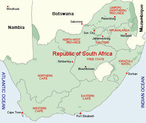 South Africa Hunting Areas